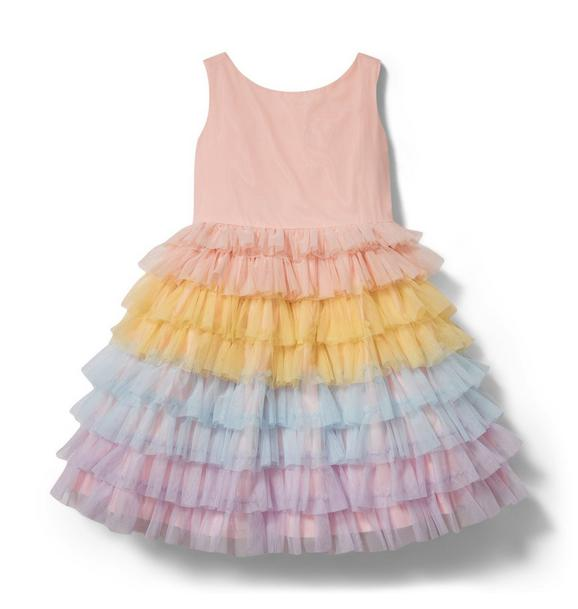 Rainbow Tiered Tulle Dress