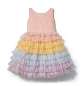 Rainbow Tiered Tulle Dress