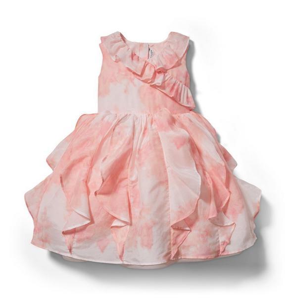 Cascading Ruffle Wrap Dress