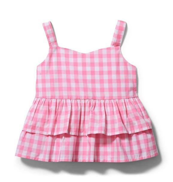 Gingham Tiered Ruffle Top