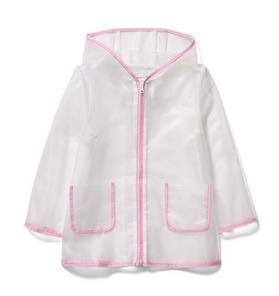 Hooded Translucent Raincoat