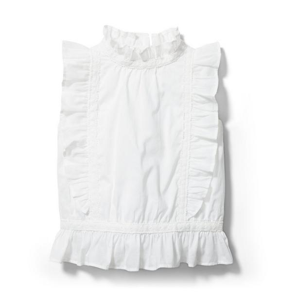 Crochet Ruffle Sleeve Top