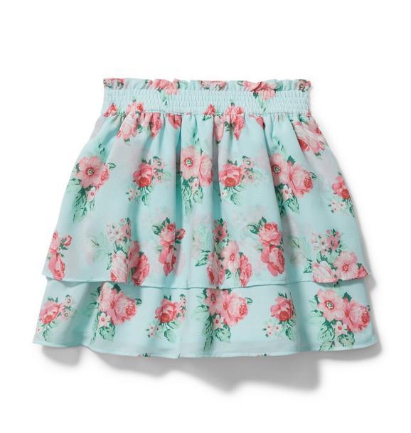 Rose Tiered Chiffon Skirt