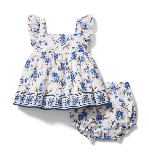 Baby Floral Border Matching Set