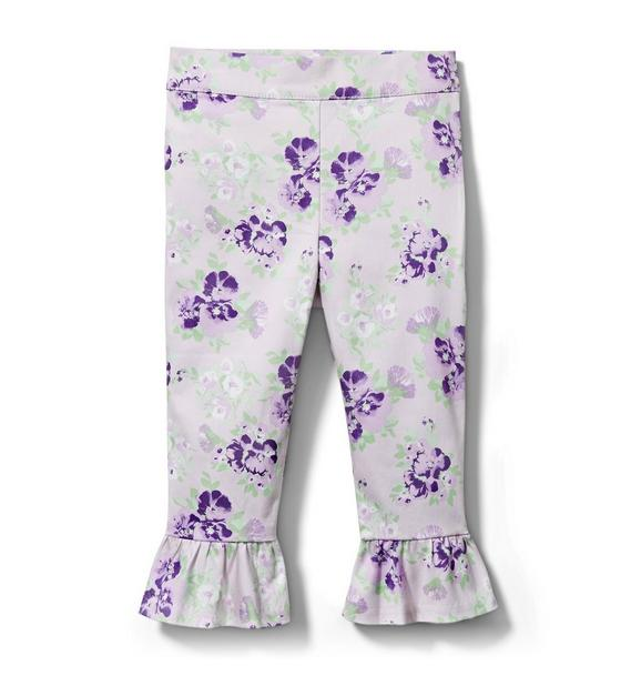 Floral Ruffle Cuff Pant
