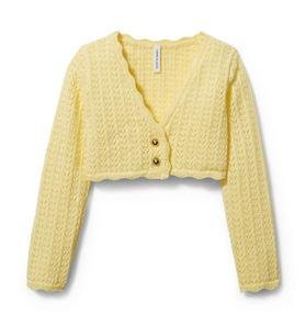 Crochet Pointelle Cardigan