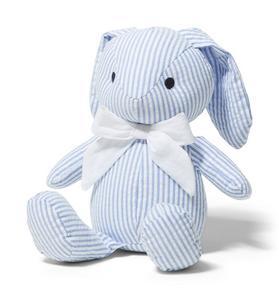 Baby Seersucker Bunny Plush