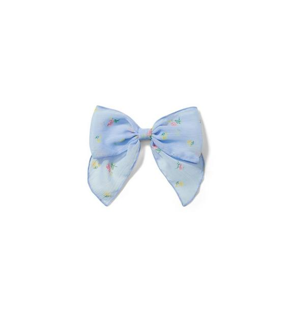 Janie and Jack Floral Bow Barrette