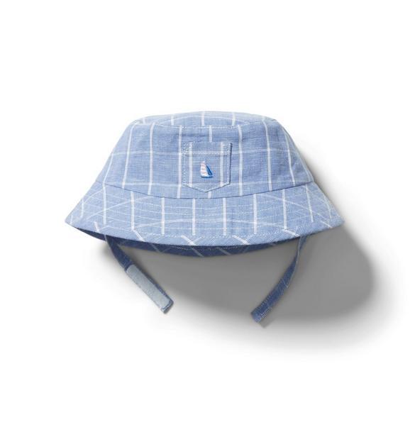 Baby Windowpane Bucket Hat