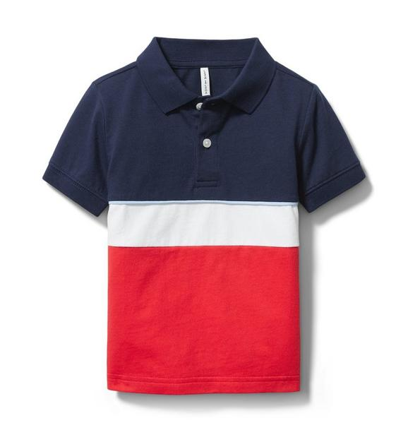 Janie and Jack Colorblocked Jersey Polo