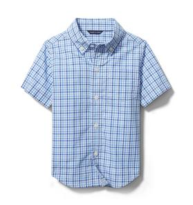 Janie and Jack Gingham Poplin Shirt