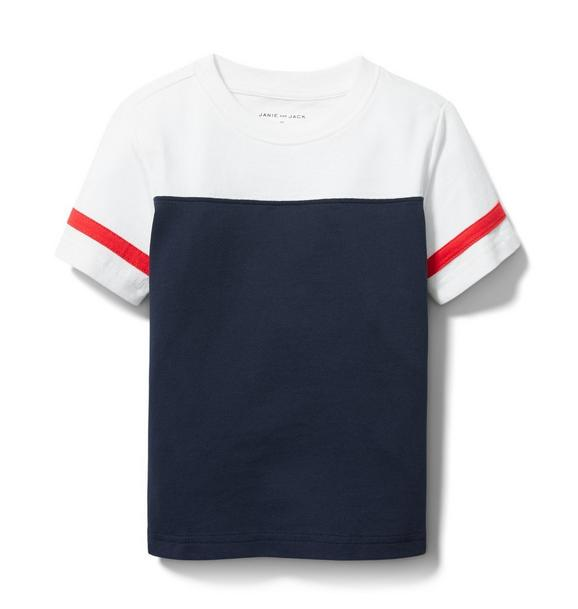 Janie and Jack Colorblocked Stripe Tee