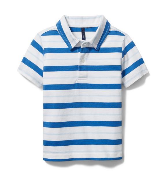 Striped Jersey Polo