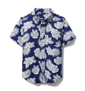 Janie and Jack Tropical Floral Poplin Shirt