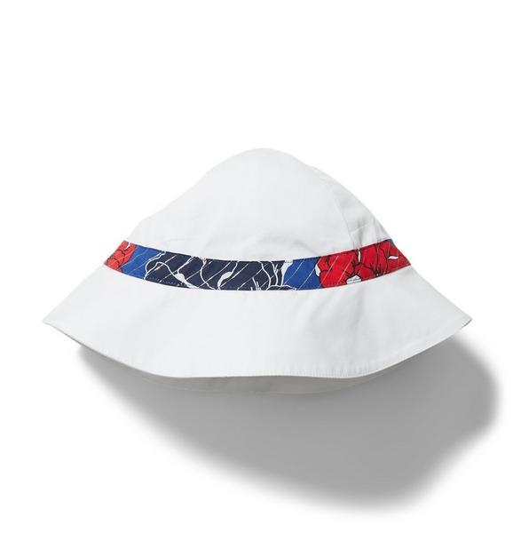 Floral Ribbon Sun Hat