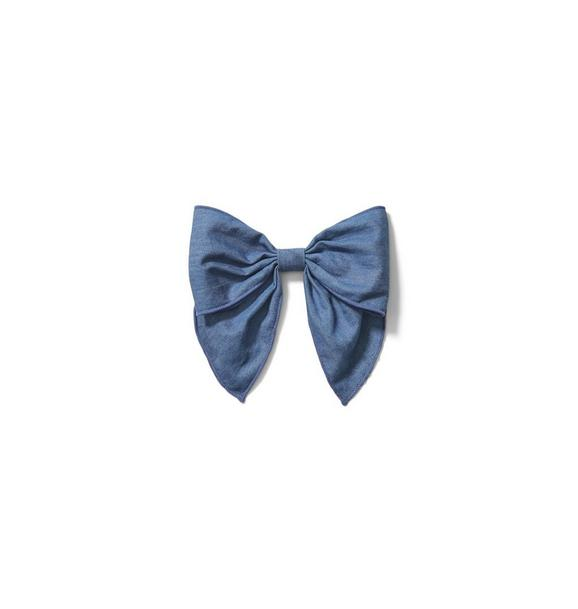 Janie and Jack Chambray Bow Barrette
