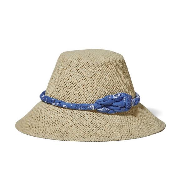 Paisley Floral Knot Straw Hat