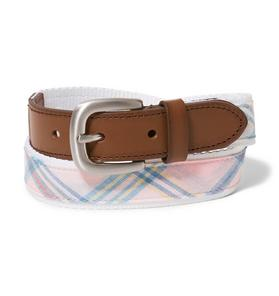 Plaid Leather Belt