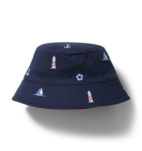 Embroidered Nautical Bucket Hat