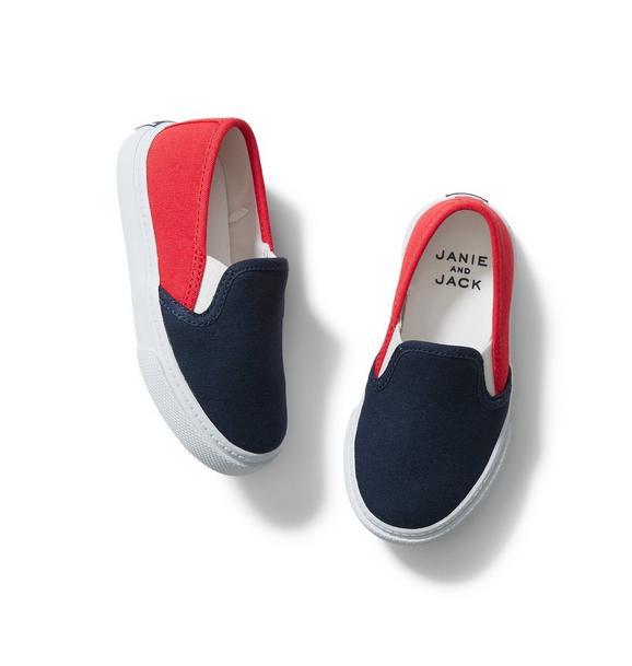Janie and Jack Colorblocked Slip-On Sneaker