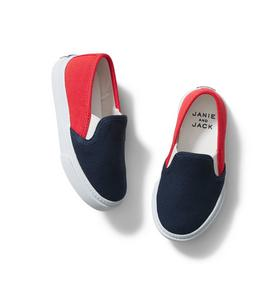 Colorblocked Slip-On Sneaker