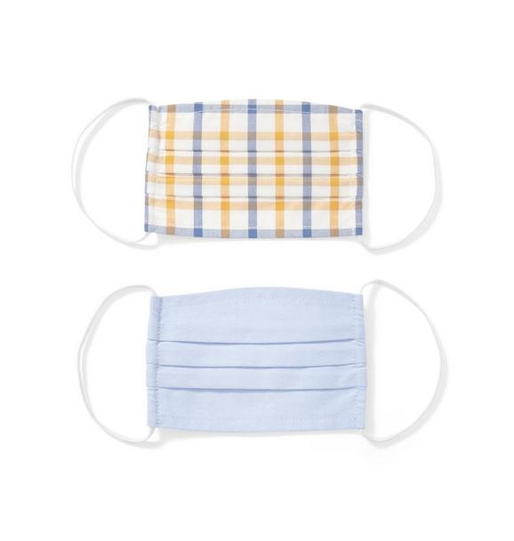Oxford And Check Mask 2-Pack