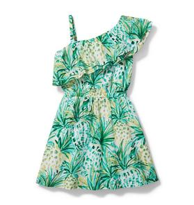 Pineapple Cold Shoulder Dress