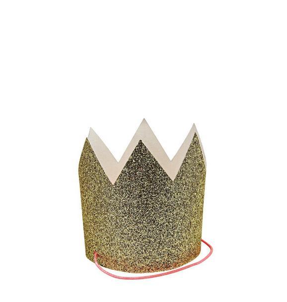 Meri Meri Gold Glitter Party Crown Set