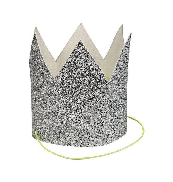 Meri Meri Silver Glitter Party Crown Set