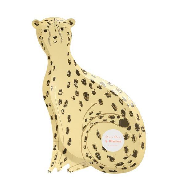 Meri Meri Safari Cheetah Plate Set