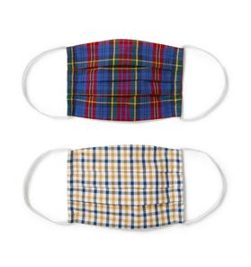 Kid Plaid Mask 2-Pack