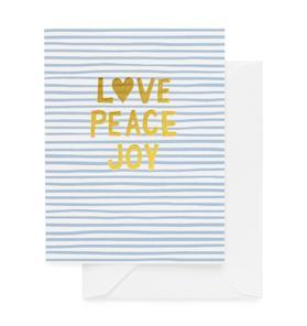 Sugar Paper Love Peace Joy Card