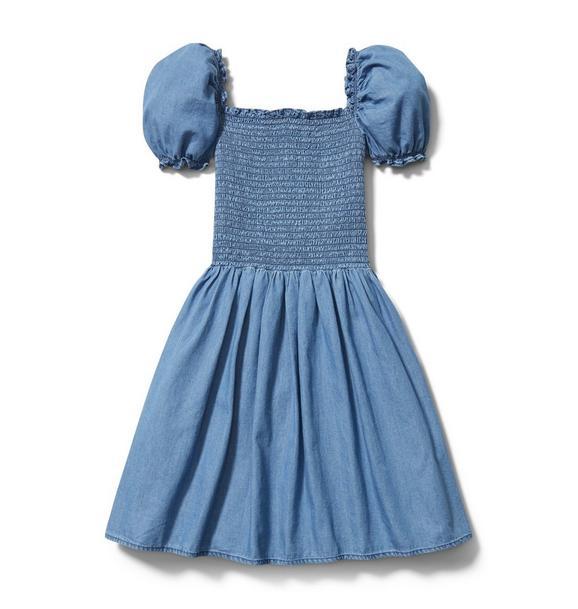 Chambray Smocked Dress