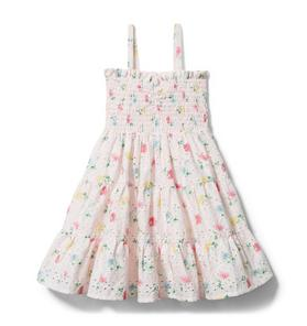 Floral Eyelet Tiered Dress