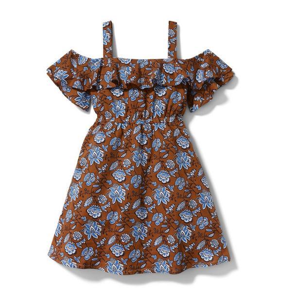 Paisley Floral Cold Shoulder Dress