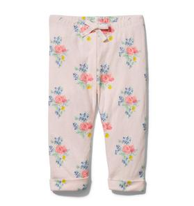 Baby Floral Cuffed Pant