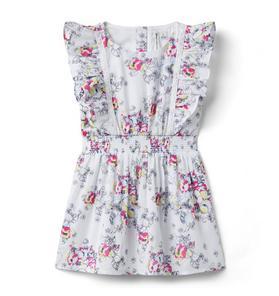 Disney Alice in Wonderland Floral Smocked Dress