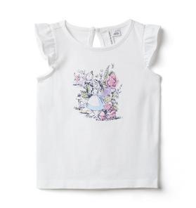 Disney Alice in Wonderland Ruffle Sleeve Tee