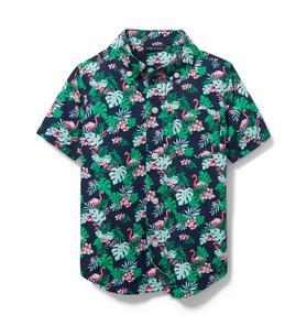 Flamingo Poplin Shirt