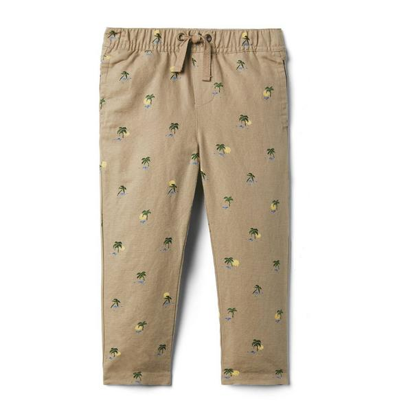 Palm Linen Pull-On Pant