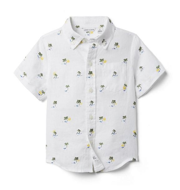 Palm Linen Shirt