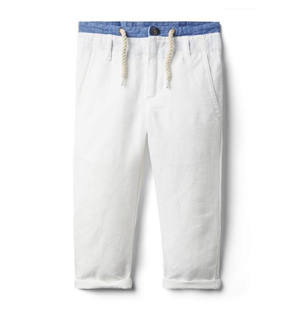 Linen Double Waistband Pant