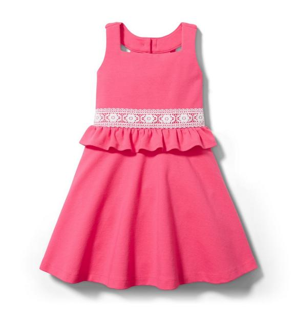 Crochet Trim Ponte Dress