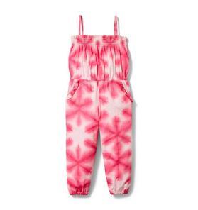 Shibori Smocked Jumpsuit