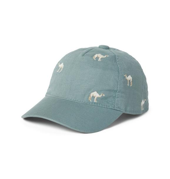 Embroidered Camel Cap