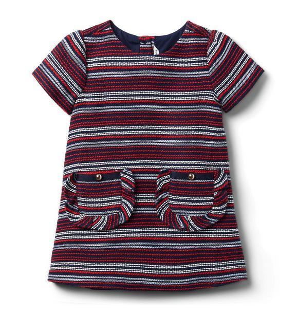 Bouclé Ruffle Pocket Dress