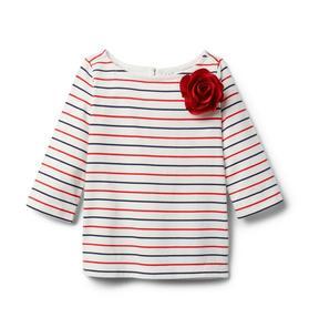 Striped Flower Top