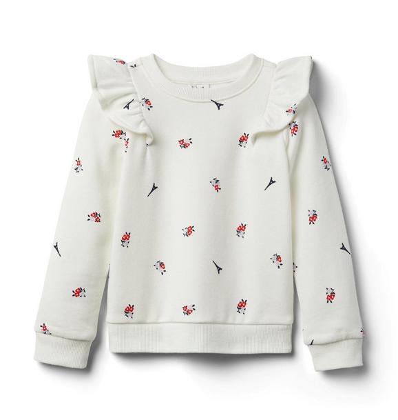 Eiffel Tower Floral Sweatshirt