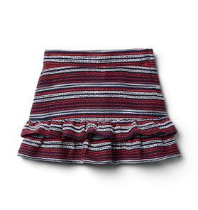 Bouclé Ruffle Skirt