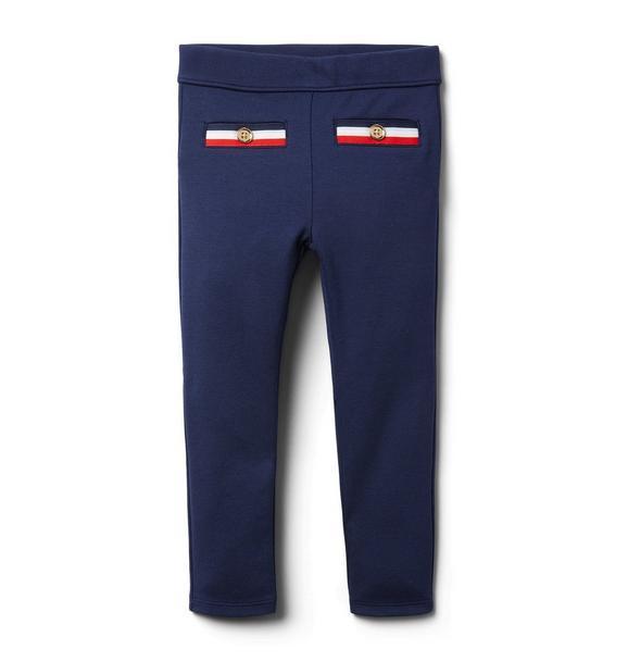 Stripe Trim Ponte Pant